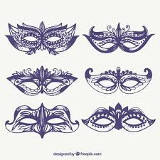 sketches of carnival ornamental masks pack vector free