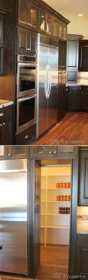 fridge that looks like cabinets the door past the fridge looked like cabinets but it opened up into