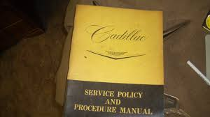 1960 cadillac service policy and procedure manual