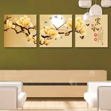 frameless picture hanging creative wall clock hanging clocks frameless painting the living