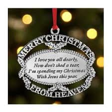 merry christmas from heaven merry christmas from heaven ornament