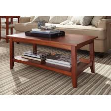 alaterre furniture shaker cottage cherry storage coffee table