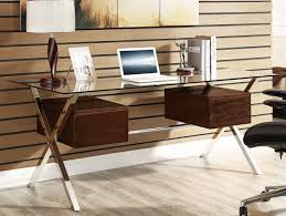 wood desk with glass top glass and wood desk interior design ideas