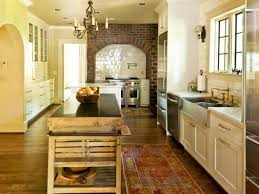 white stone backsplashes tiled ceiling fan lamps country kitchen