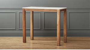marble high top table palate high marble top dining table reviews cb2