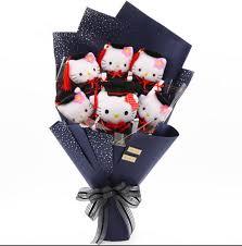 hello graduation hello doctoral hat graduation gift bouquet for