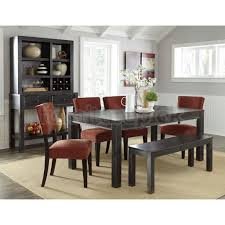 furniture sturdy dining table with bench narrow solid wood classic
