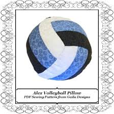 volleyball or water polo pillow pdf sewing pattern diy home