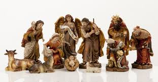 new 6 heaven s majesty nativity figure set wood carved look