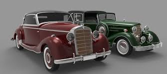 antique cars old cars 3d model cgtrader