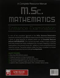 buy a complete resource manual m sc mathematics entrance