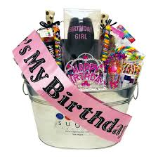 birthday baskets birthday girl vip basket sugar factory