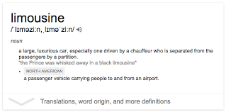 did the word limousine come from