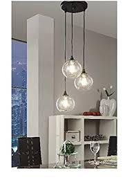 3 Pendant Light Uptown 3 Light Glass Modern Clear Globe Cluster