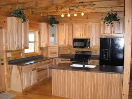 Log Home Kitchen Cabinets - log cabin decorating ideas with kitchen cabinet and kitchen drawer