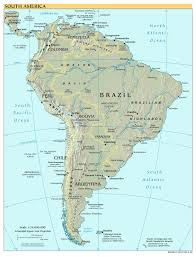 United States Map With Capitals by South America Map With Capitals My Blog