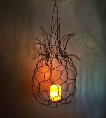 hanging wire pineapple lantern home decor u0026 lighting