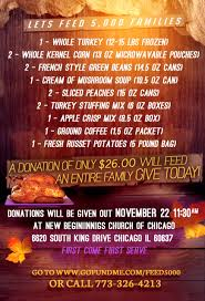 thanksgiving blessing mix fundraiser by corey brooks feed 5000 families for thanksgiving