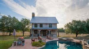 896 sq ft poolside rustic timber cabin great small house