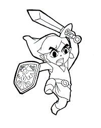 printable zelda coloring pages coloring me