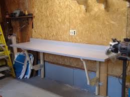 Tool Bench For Garage Make A Cheap Fold Down Workbench 4 Steps With Pictures