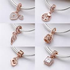 silver necklace pandora beads images Authentic 925 sterling silver bead family rose gold tree heritage jpg
