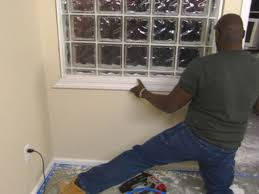 how to install a glass block wall hgtv