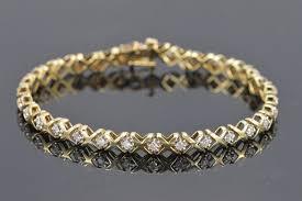 bracelet diamond style images 8 8g 10k 0 90 ctw diamond quot x quot quot o quot tennis style bracelet 7 25 jpg