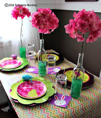 Easter Paper Table Decorations by Frugal Easter Table Decor Ideas