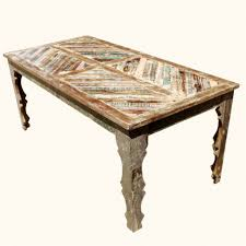 Distressed Wood Dining Room Table by Dining Tables Distressed Wood Dining Furniture Rustic Farmhouse