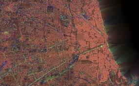 Chicago Street Map by On The Grid City Maps Colorized By Street Orientation Cbs Chicago
