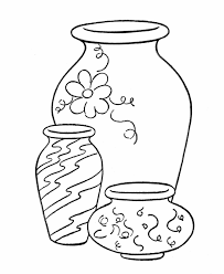 Vase Drawing Vase Coloring Pages Getcoloringpages Com