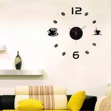 discount wall clock coffee cups 2017 wall clock coffee cups on