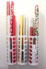plastic bag holder ikea diy vertical wrapping paper storage idea ikea hack