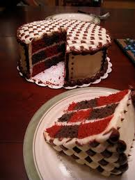 checkerboard red velvet cake red velvet cake and food