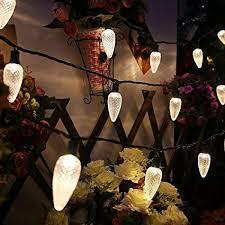 c9 warm white led christmas lights amazon com maxinda commercial grade c9 big led string light set