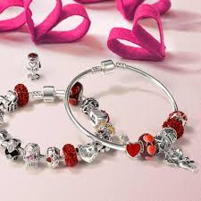 red charm bracelet images 925 sterling silver arrow red heart bead charm pandora compatible jpg