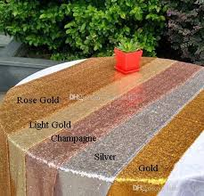 sequin table runner wholesale chagen rose gold silver sequins table runners 11 8 x108