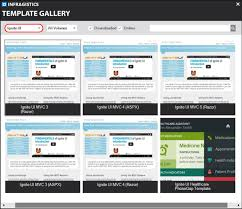 templates for asp net web pages give your project a head start with the infragistics template