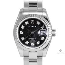 rolex oyster bracelet stainless steel images Ladies rolex datejust stainless steel black jubilee diamond dial jpg