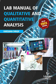 lab manual of qualitative and quantitative analysis manakinpress