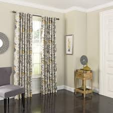 Design House Skyline Yellow Motif Wallpaper Yellow Curtains U0026 Drapes Shop The Best Deals For Oct 2017