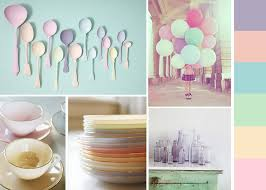 candy coloured shades and pastel home decorations pastel living