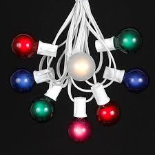g40 string lights multi colored g40 globe outdoor string light set on white