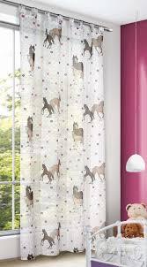 schlaufenschal kinderzimmer schlaufenschal kinderzimmer gardine pferde 140x245cm vorhang