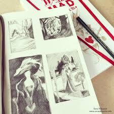 how to draw thumbnail sketches u2014 eeva nikunen