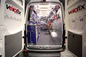 mercedes bicycle velofix the sprinter as a mobile bicycle workshop mercedes benz