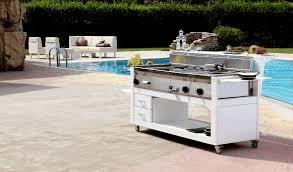 mobilier cuisine professionnel cuisine modulable pour extérieur five italy cuisine