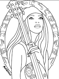 rock on music coloring pages for adults pinterest rock