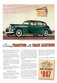 car advertisement directory index packard ads 1940